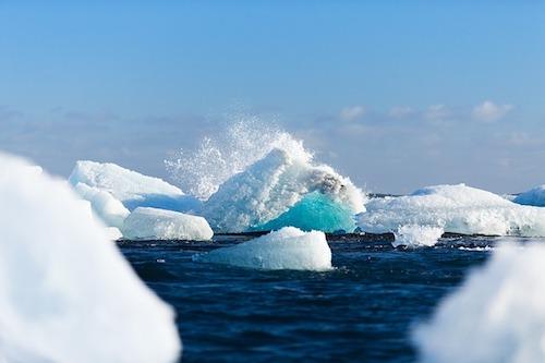 arctic ice floating