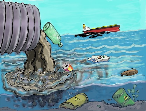 polluted ocean water