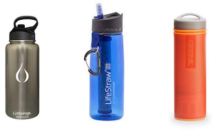 top filtered water bottles
