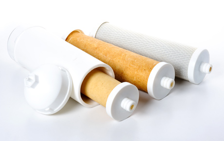 3 used water filters