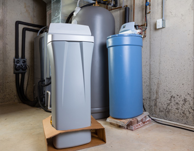 two water softeners