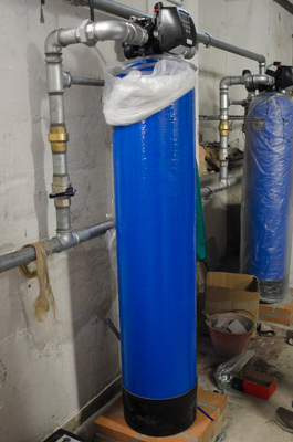 water softener in warehouse